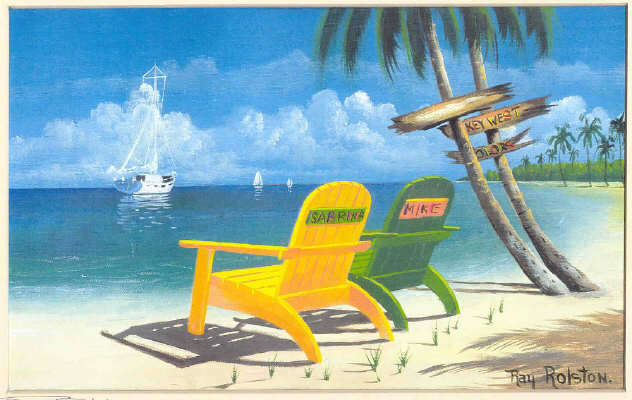 chairs on beach. Key West Beach Chairs