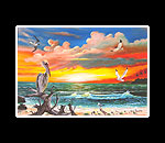 Pelican Sunset Matted Print