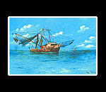 Shrimp Boat Matted Print