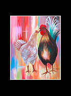 Conch Family Rooster Print