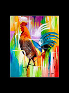 Julio Rooster Print